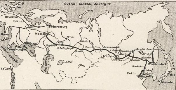 La ligne transsibérienne en 1904