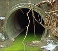 Pollution de l'eau.